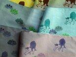 受注制作✳︎『松と猫』手描き染め手ぬぐい✳︎一枚のお値段です。の画像