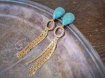ヴィンテージターコイズフリンジピアス vintage pierced earrings <PE-TQFR>の画像