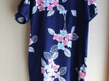 着物リメイク・紫陽花浴衣チュニックワンピースの画像