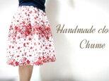 スペインからの華やか蝶々スカート【レッド】の画像