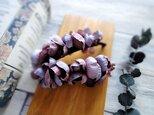 紫陽花のバナナクリップ ■ ふんわり優しいシルエット ■ パープルの画像