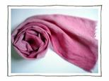 自然染め リネンのストールの画像
