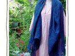 自然染め リネンのストール(藍染め)の画像