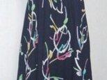 浴衣リメイク♪チューリップが可愛い浴衣ワンピース.裾変形・イレギュラーヘム・ハンドメイドの画像