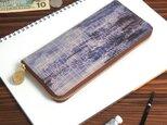 ラウンドファスナー長財布(スターリー ナイト)オールレザー 牛革 レディース メンズ ILL-1150の画像