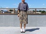●SALE●着物リメイク・縮緬の毎日スカート(紅型風・L)の画像