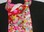 英国アンティークレースと可愛い古布とのコラボ スカーフの画像