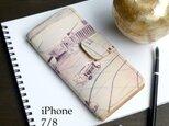iPhone7 iPhone8 手帳型アイフォンケース(デパーチャー エアポート)牛革 ILL-1133の画像