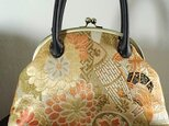 アンティーク古典柄丸帯・リメイクがま口バッグ M様特注品の画像