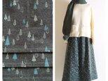 【F様専用ページ】あったかAラインスカート(85cm丈):コットンフランネル(冬の森:カーキグリーン)の画像