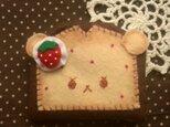 フェルトのケーキ・小物入れの画像