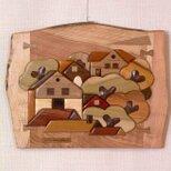 木の絵 森の家の画像