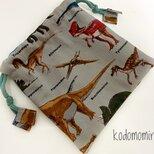 恐竜 小物巾着の画像