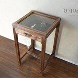 0310 ガラスのディスプレイサイドテーブル(1点限定試作品価格)の画像