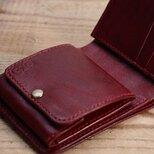 コインケースの大きな二つ折りのお財布(ワイン)の画像