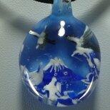 鶴と富士山  (ガラス、ペンダント、富士山)の画像