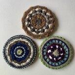 かぎ針編みのポットマット(鍋敷き)の画像