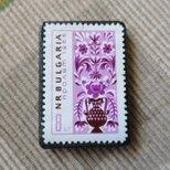 ブルガリア 切手ブローチ 6489の画像