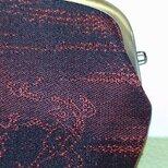 絹織物西陣織 四角ぽい 鳥獣戯画赤裏青の画像