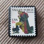 再販 アメリカ クリスマス切手ブローチ 1649の画像