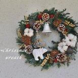白クマのクリスマスの森wreathの画像