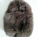 ¶ new antique fur ¶ ふわふわカーキフォックスワンハンドルバッグの画像