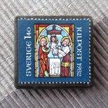 スゥエーデン クリスマス切手ブローチ 6825の画像