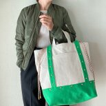 canvas 2way tote bag (green)の画像
