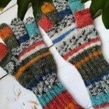 オパール毛糸のスマホ対応5本指手袋(ランデブー)の画像