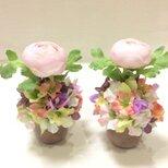 仏花   真珠の涙   令和  (仏花ミニサイズ、造花、1対、お供え、お盆、お彼岸、敬老の日)の画像
