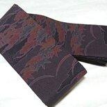 創作帯☆角帯 リバーシブル 大島風小紋柄 巾約10cmの画像