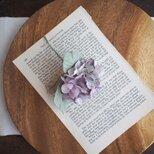 布染花*紫陽花-elegant purple*コサージュの画像