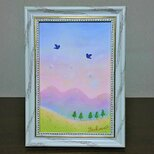 パステルアート ミルク色の朝靄の画像