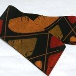 創作帯☆角帯  レトロ柄 巾約10cmの画像
