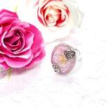 ロマンティック バラ リング ピンク&パープルの画像