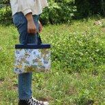 リメイク*男の子とお花のミニバッグの画像