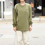 ゆったり シンプル 無地 ロングスリーブTシャツ 革タグ ビッグシルエット オーバーサイズ 刺繍入り 全4色 TA025の画像