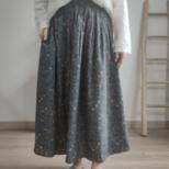 【秋】3色 花柄スカート レーディスの画像