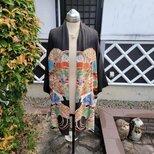 着物リメイク 古布 手作り  アンティーク留め袖 ジャケットの画像