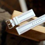 高級革使用のApple Watchベルト エプソンレザー  革時計ベルト ホワイト 格好いいの画像