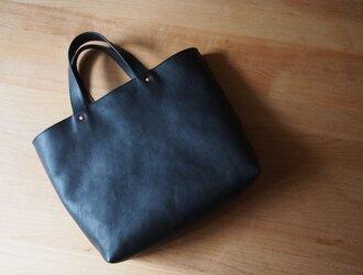 tote bag small navy - トートバッグ小(ネイビー)の画像