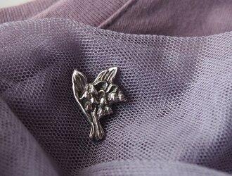 Pure Silver すずらんピンバッジの画像
