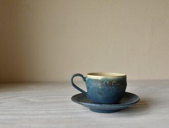 ターキッシュブルー釉 カップ&ソーサーの画像