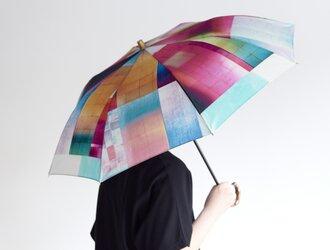晴雨兼用折りたたみ日傘 - STONE BLOCK -の画像
