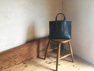 【受注製作品】『tosca』革袋 black  S 外縫いの画像