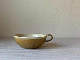 麦わら色釉 スープカップの画像