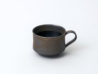 スタッキングできるマグカップ コーヒーカップ (ブロンズ/黒)の画像