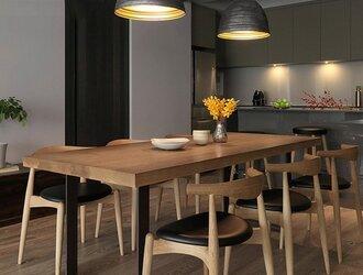 受注生産 職人手作り ダイニングテーブル テーブル 机 モダン 天然木 木目 家具 無垢材 オーク材 エコ LR2018の画像