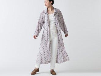 木間服装製作 / longshirt flower / unisex 1size / ロングシャツ・シャツワンピースの画像