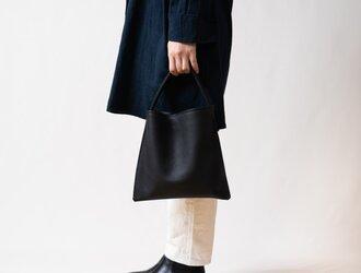 Mini Holiday bag レザーブラックの画像